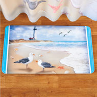 Seaside Escape Coastal Scene Bath Mat - 47221