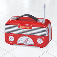 Coca Cola Vintage AM/FM Radio - 47231