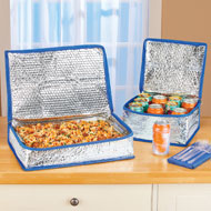 Foil-Insulated Food Carriers with Zip Closure - 47232