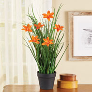 Faux Large Blossom Daylily Plant - 47253