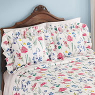 Clara Plisse Garden Ruffled Pillow Shams - 47274