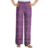 All-Over Floral Print Border Design Palazzo Pants - 47275