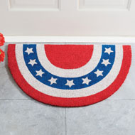 Americana Slice Coco Mat with Skid-Resistant Backing
