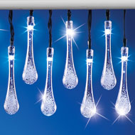 Solar Raindrop-Shaped String Lights - 47292