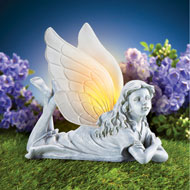 Solar Antique-Finish Garden Fairy - 47302