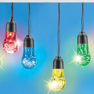 Color-Changing Solar Bubble String Lights - 47307
