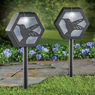 Hummingbird Solar Pathway Stakes - Set of 2 - 47312