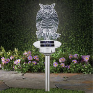 Clear Solar Owl Light Yard Stake - 47318