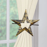 Rustic Star Curtain Tie Backs - Set of 2 - 47345