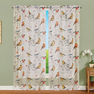 Semi Sheer Peaceful Bird Curtain - 47371