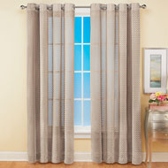 Tia Semi-Sheer Textured Chevron Curtain Panel - 47373