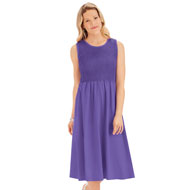 Flattering Empire Waist Smocked Knit Dress - 47377