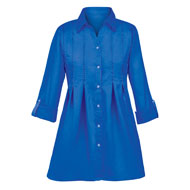 Double Pintuck Button-Front Shirt