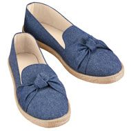 Knot Front Rope Trim Slip-On Shoes