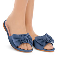 Pretty Bow Slide Sandals with Slip-Resistant Soles