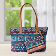 Aztec Tapestry Handbag and Detachable Case - 47438