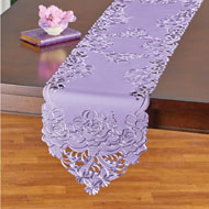 Bloom Rose Garden Embroidered Table Linens - 47448