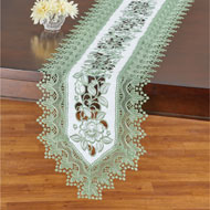 Elegant Rose and Lace Table Linens - 47453