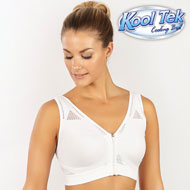 Kooltek Full Coverage Zip Bra with Wide Straps - 47464