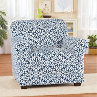Ultra Plush Diamond and Scroll Furniture Slipcover - 47468