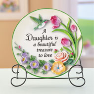 Sentimental Daughter Saying Decorative Plate - 47471