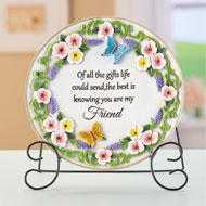Sentimental Friend Saying Decorative Plate - 47472