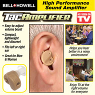 Bell and Howell TacAmplifier Hearing Aid - 47475