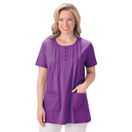 Pintuck Patch Pocket Front Tunic - 47491