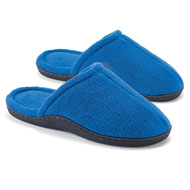 Plush Terry Slip-On Slippers with Padded Insoles - 47504