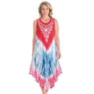 Americana Tie Dye Easy-Fit Sleeveless Dress - 47514