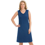 Classic Knit Sleeveless Dress with V-Neckline - 47529