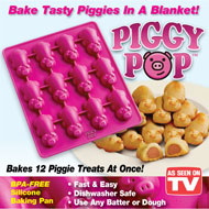 Piggy Pop Pigs-in-a-Blanket Non-Stick Silicone Pan - 47548