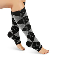 Therapeutic Fashion Compression Zipper Socks - 47551