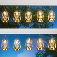Solar Gold-Colored Lantern Light String - 47584