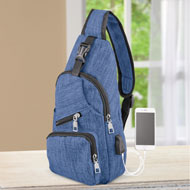 One Strap Security Bag with USB Charging Port - 47595