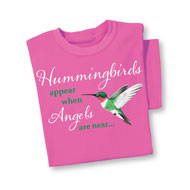 When Hummingbirds Appear Pink T-Shirt - 47596