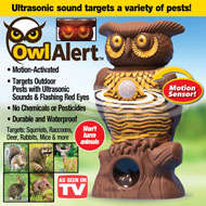 Owl Alert Motion-Activated Security Statue - 47609