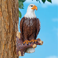 Bald Eagle On Tree Branch Outdoor Figurine - 47610