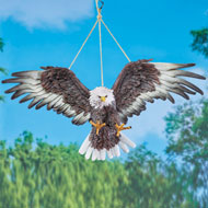 Swinging Hand-Painted Eagle Outdoor Figurine - 47611