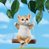 Swinging Pets Outdoor Decorative Figurine - 47614