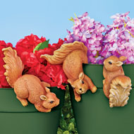 Set of 3 Squirrel Pot Hangers - 47621