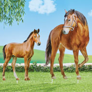 Realistic Horse Metal Yard Stakes - Set of 2
