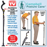 Campbell Posture Cane with Adjustable Heights - 47633