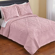 Cambridge Medallion Design Embroidered Quilt - 47637