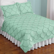 Seashell Embroidered Textured Quilt - 47639