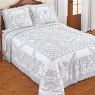 Exquisite Chenille Bedspread with Fringe Border - 47705