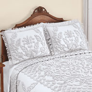 Exquisite Chenille Pillow Sham with Fringe Border - 47706