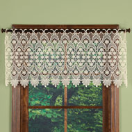 Elegant Macrame Valance with Scalloped Borders - 47717