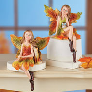 Set of 2 Fall Angel Sitters - 47827