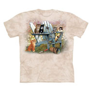 Kittens in Adirondack Chair Beige T-Shirt - 47874
